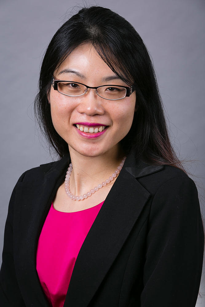business portrait of an asian woman in a suit