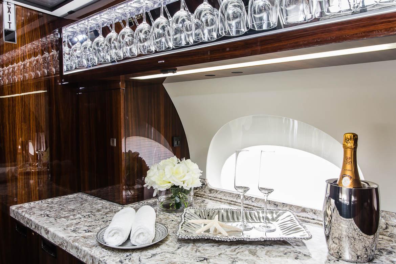 airplane interior of kitchen