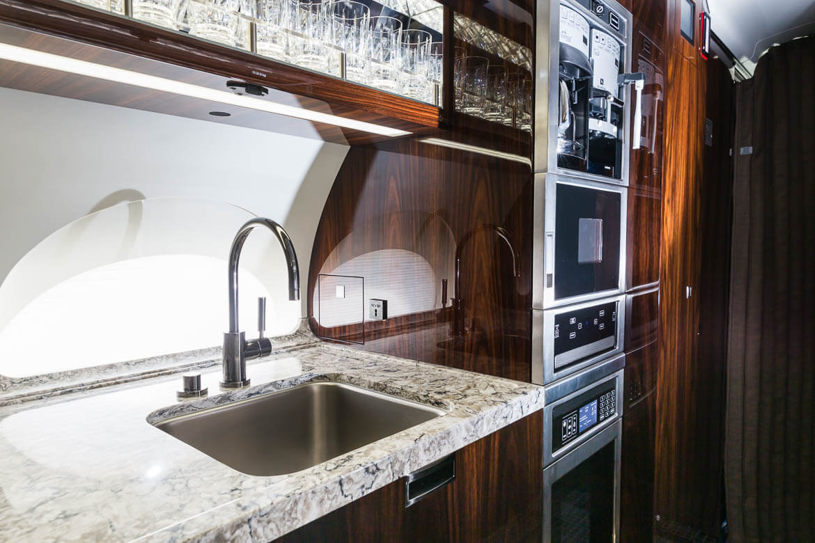 aircraft interior kitchen sink and oven