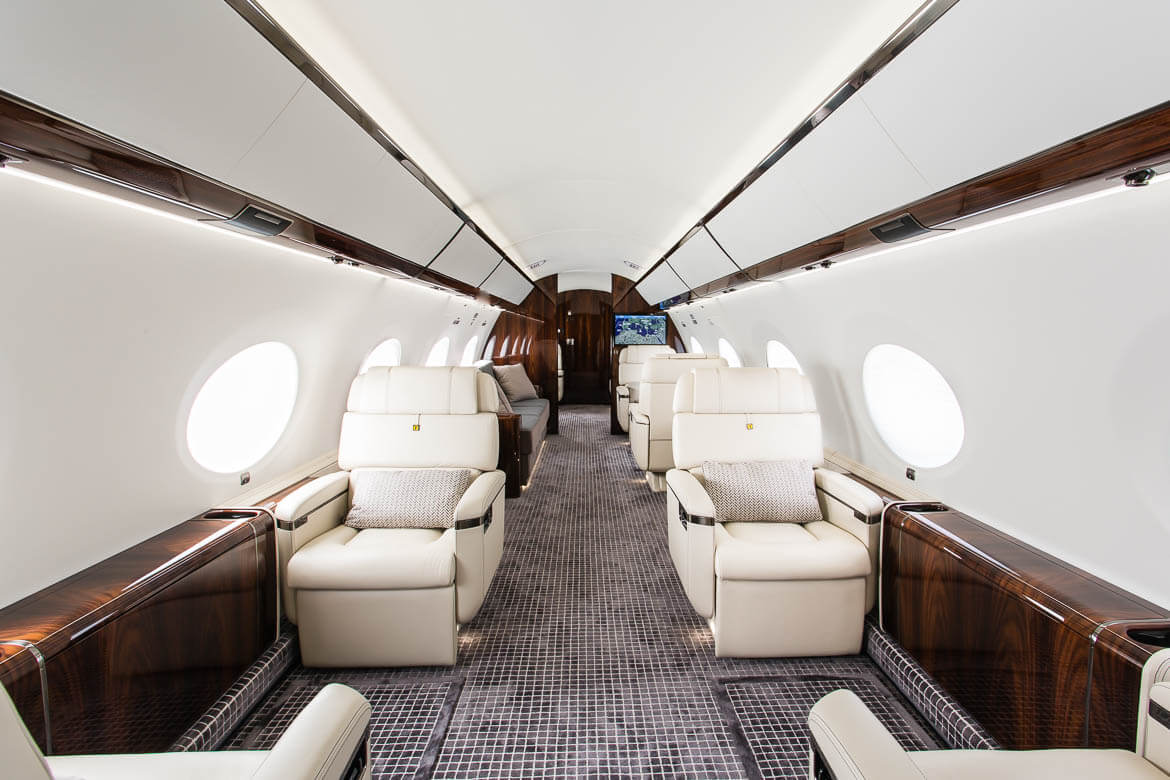 private aircraft interior